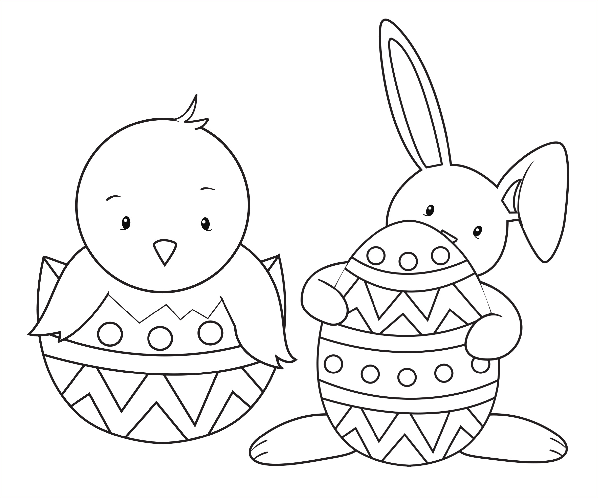 easy easter bunny coloring pages