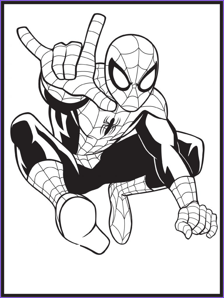 Coloring Page Of Spiderman Awesome Image Spiderman Coloring Pages Superheroes