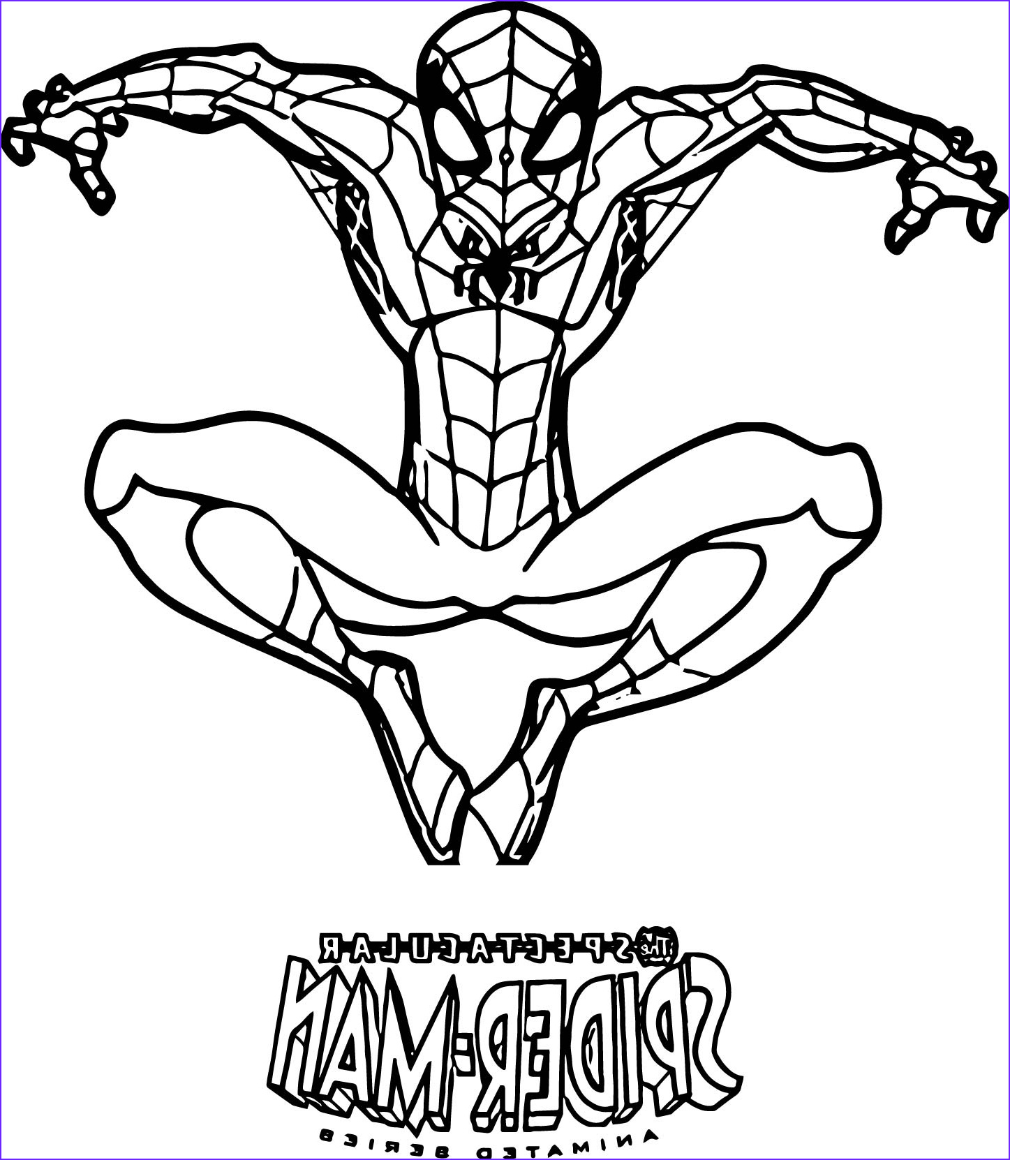 Coloring Page Of Spiderman Cool Images Spiderman Black Suit Coloring Pages at Getdrawings