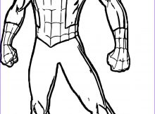 Coloring Page Of Spiderman New Stock Spider Man In Full Length Coloring Pages for You