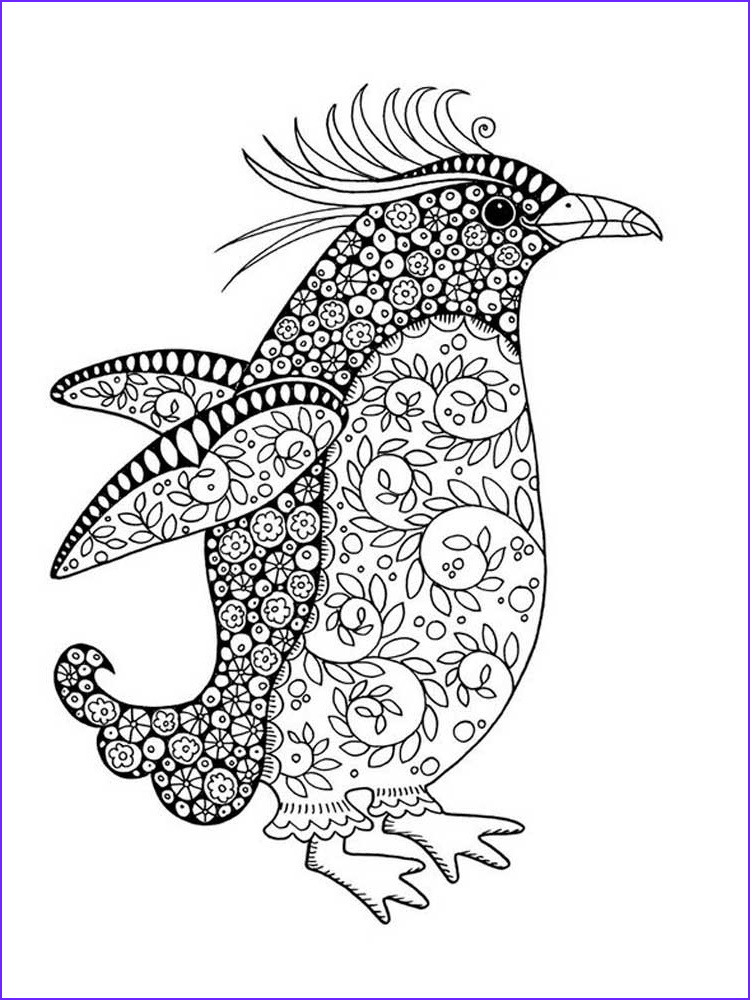 Coloring Page Penguin Inspirational Images Free Penguin Coloring Pages for Adults Printable to