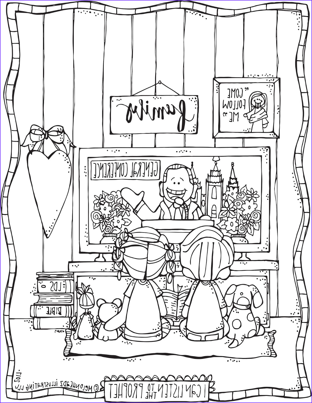 Conference Coloring Page Inspirational Gallery Melonheadz Lds Illustrating