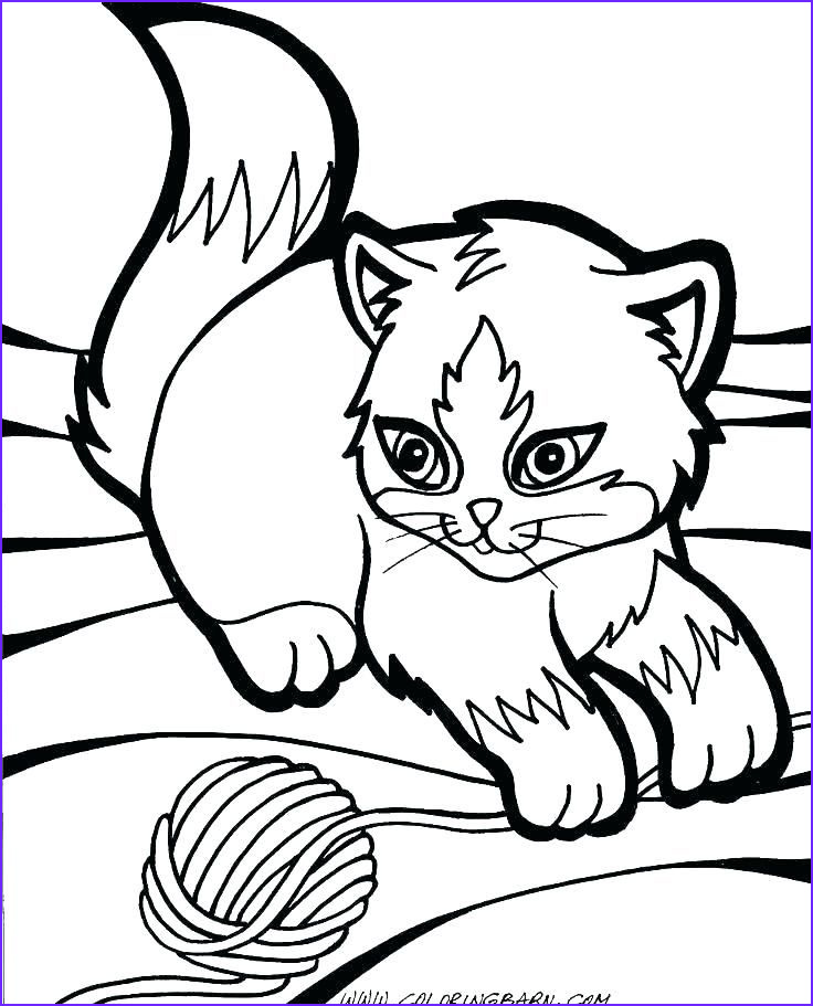 Cute Cats Coloring Page Luxury Photos Cute Kitten Coloring Pages Idea