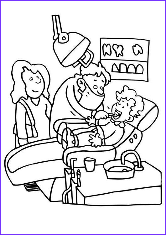 Dentist Coloring Sheet Beautiful Stock Coloring Page Dentist Img 7143