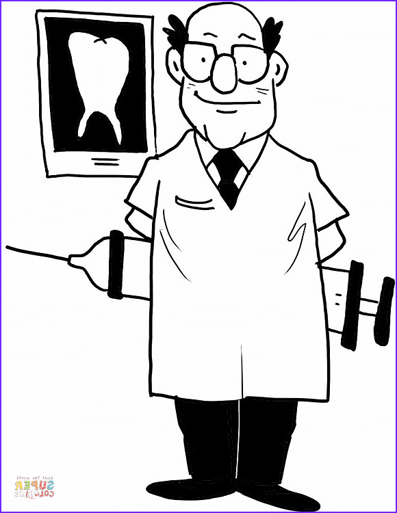 Dentist Coloring Sheet Best Of Gallery Dentist Coloring Page