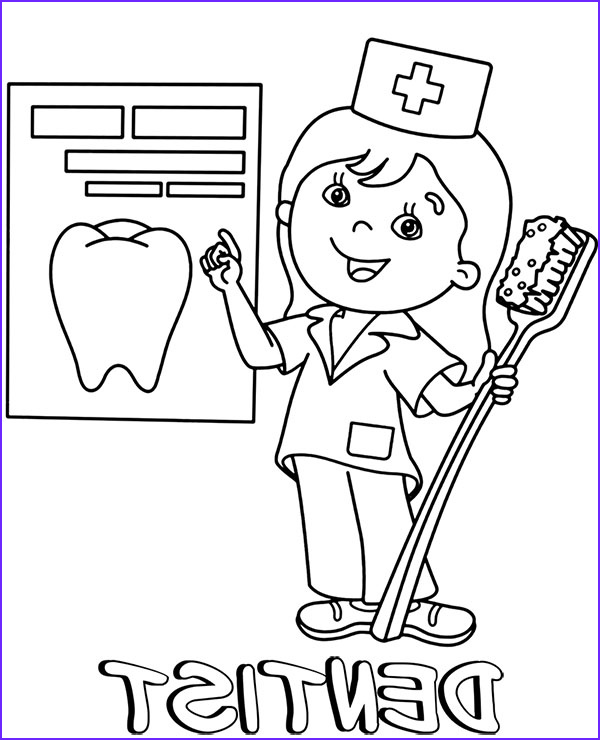 Dentist Coloring Sheet New Photos Dentist Coloring Page Professions Coloring Sheets