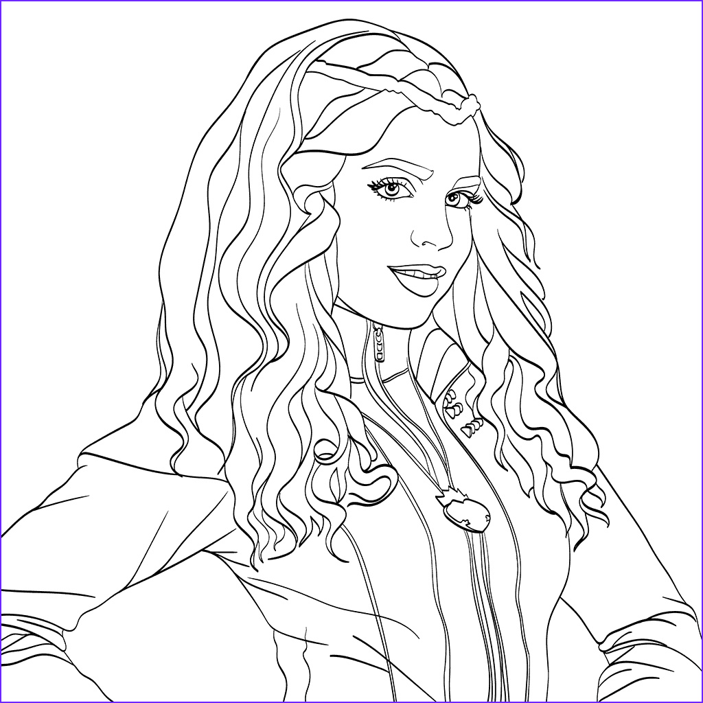 Descendants Coloring Sheet Awesome Photography top 10 Disney Descendants 2 Coloring Pages – Scribblefun