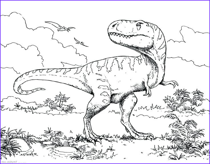 dilophosaurus coloring page