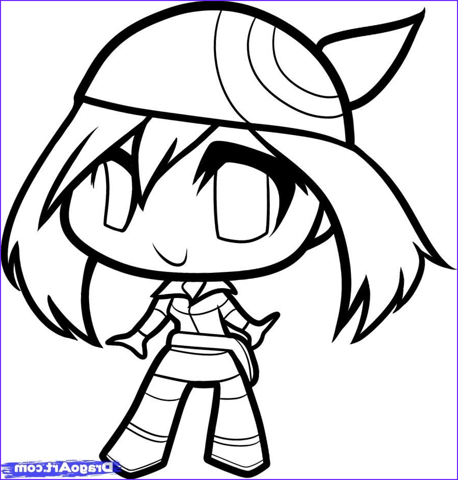 Dragoart Coloring Page Luxury Photos How To Draw Chibi May May Step By Step Chibis Draw