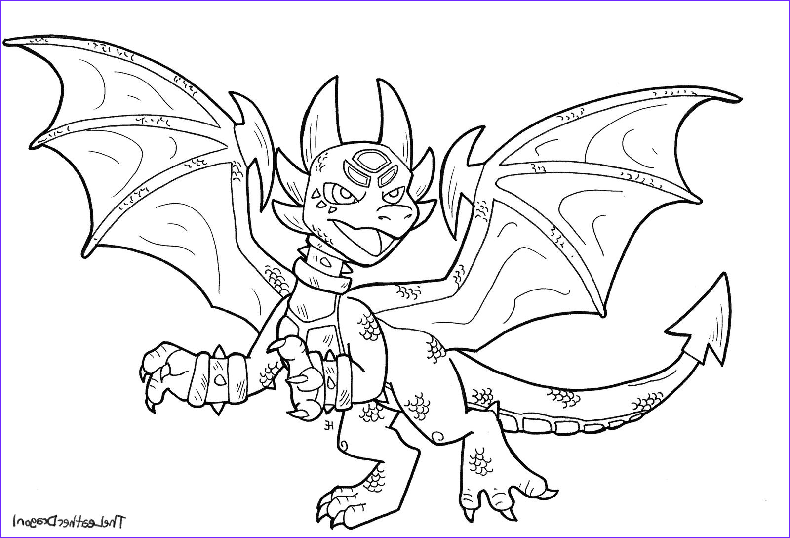 spyro the dragon coloring pages dragoart sketch templates