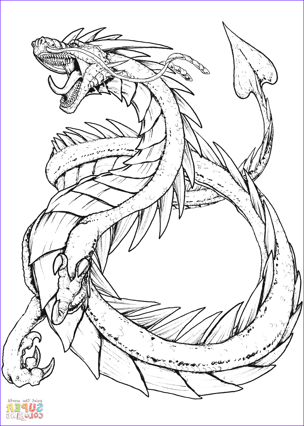 Dragon Coloring Page to Print Beautiful Images Hydra Dragon Coloring Pages at Getcolorings