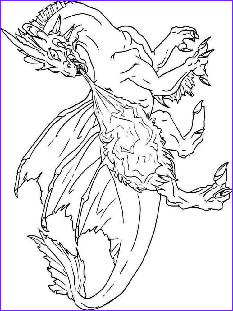 Dragon Coloring Page to Print Beautiful Photos Dragons Coloring Pages Download and Print Dragons