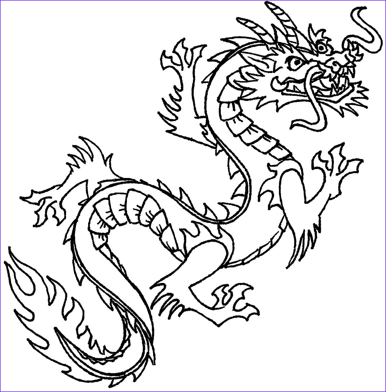 Dragon Coloring Page to Print Best Of Images Free Printable Chinese Dragon Coloring Pages for Kids