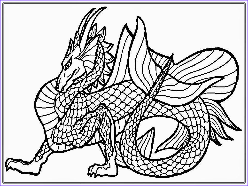 Dragon Coloring Page to Print Luxury Gallery Dragon Coloring Pages for Adults Best Coloring Pages for