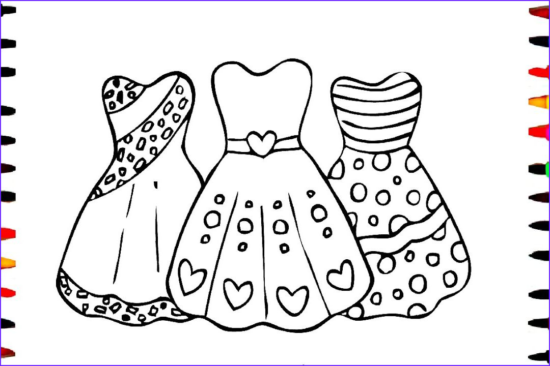 Dress Coloring Sheet Beautiful Photography Pretty Dresses Coloring Pages at Getcolorings