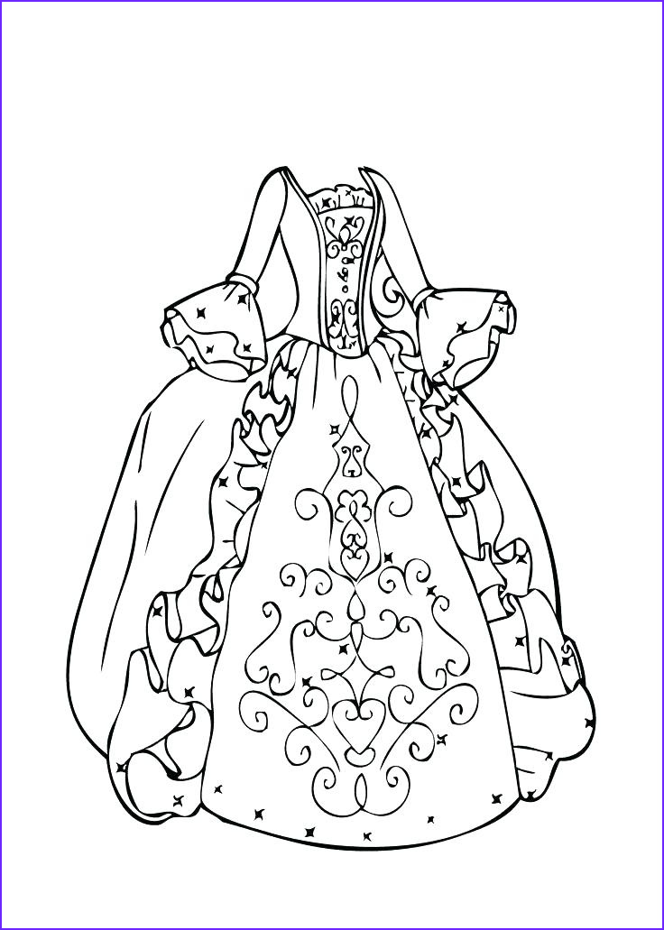 Dress Coloring Sheet Inspirational Collection Pretty Dresses Coloring Pages at Getcolorings
