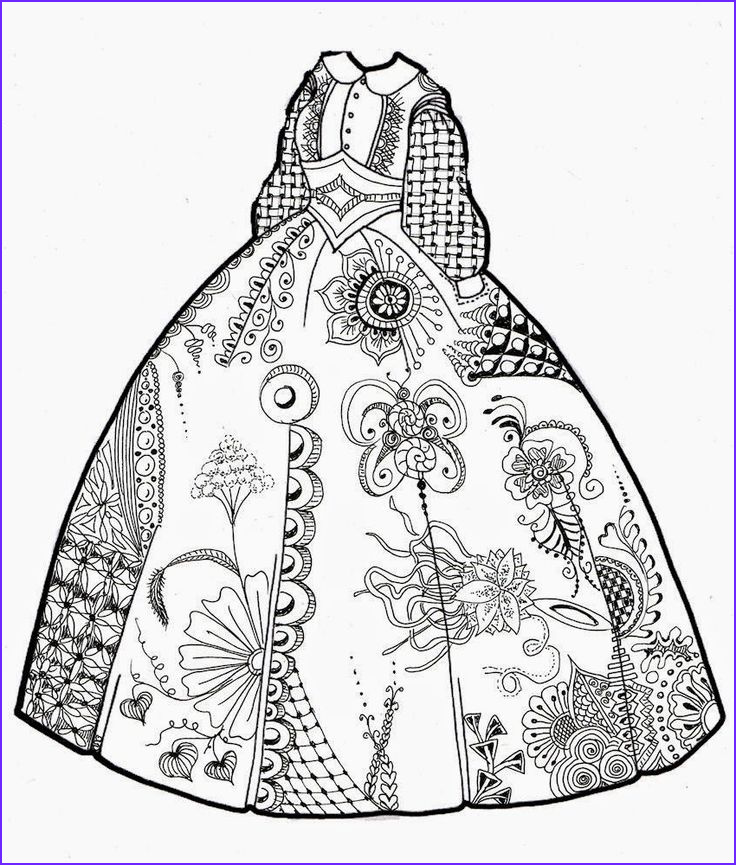 Dress Coloring Sheet Inspirational Images 88 Best Images About Clothing Dress Coloring for Adults