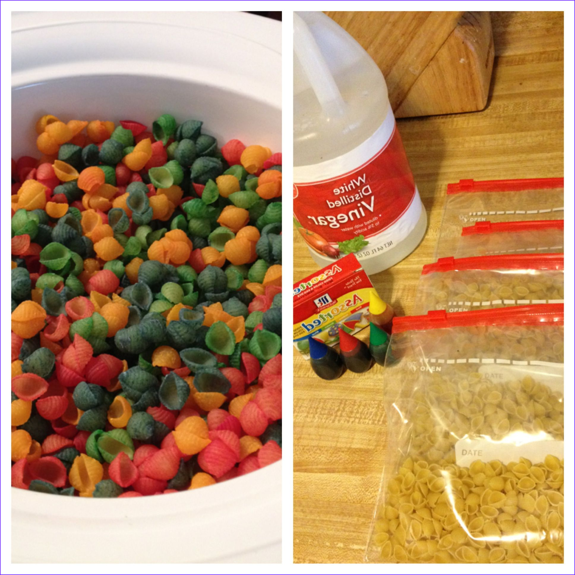 Dry Food Coloring Inspirational Gallery Colored Pasta 1t Of Vinegar and A Few Drops Of Food
