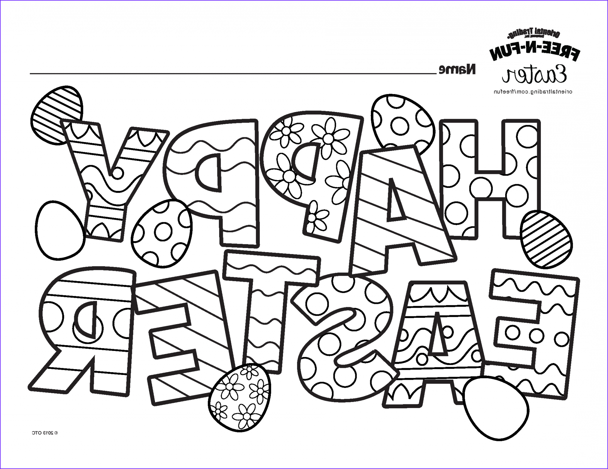 kids easter coloring contest