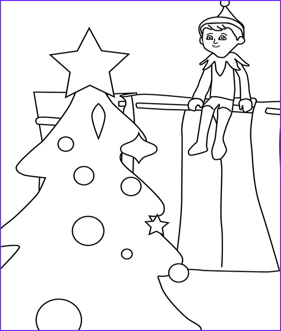 Elf On the Shelf Coloring Sheet Best Of Images Free Elf the Shelf Coloring Pages Printable – Coloring