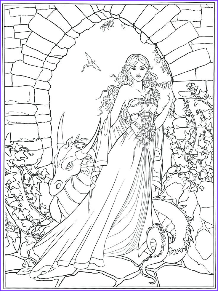 Fantasy Coloring Page for Adults Awesome Gallery Fantasy Animal Coloring Pages at Getdrawings