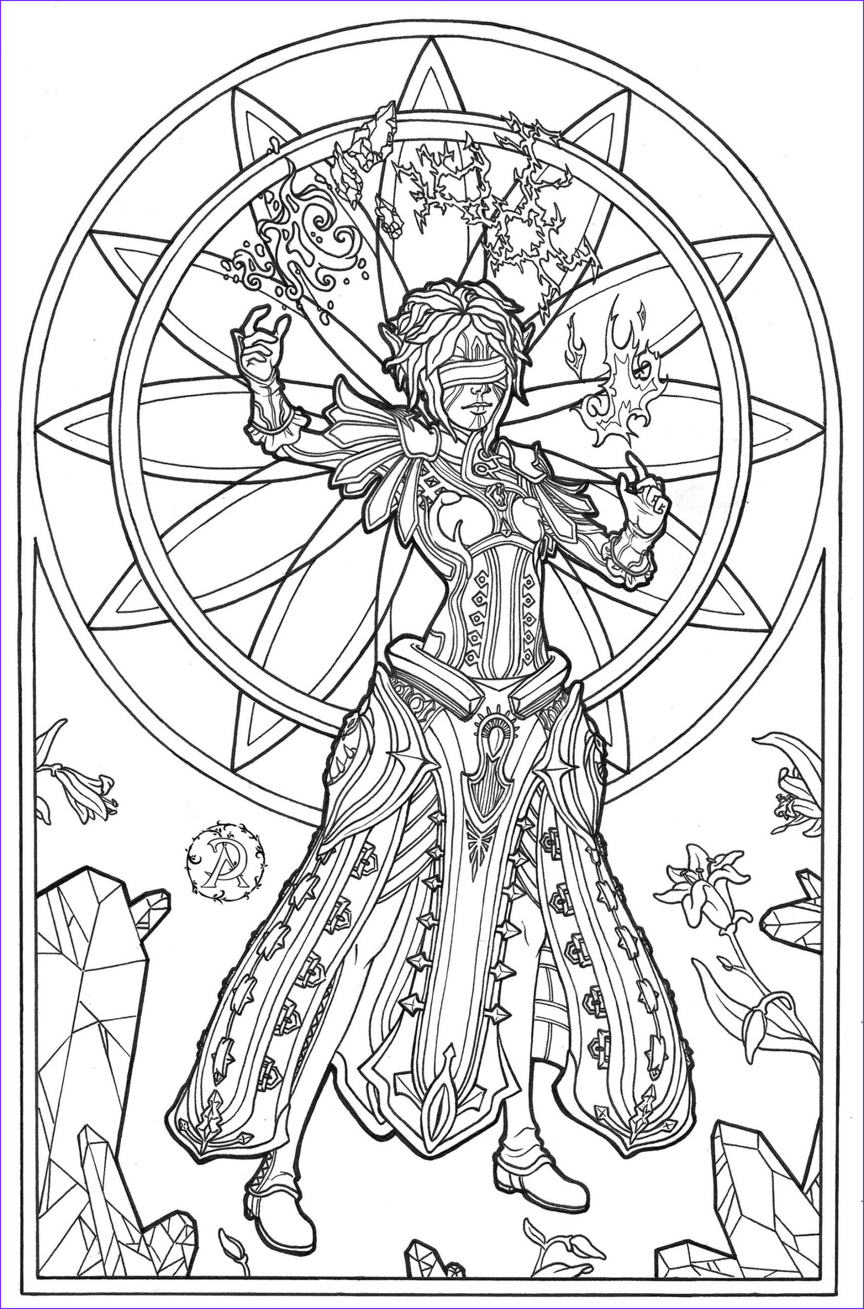 Fantasy Coloring Page for Adults Cool Image Get This Adult Fantasy Coloring Pages 4blm
