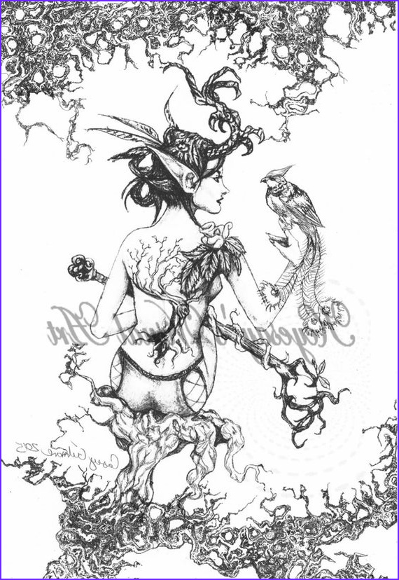 Fantasy Coloring Page for Adults New Photos Adult Fantasy Coloring Page Digital Download Digi Print Stamp