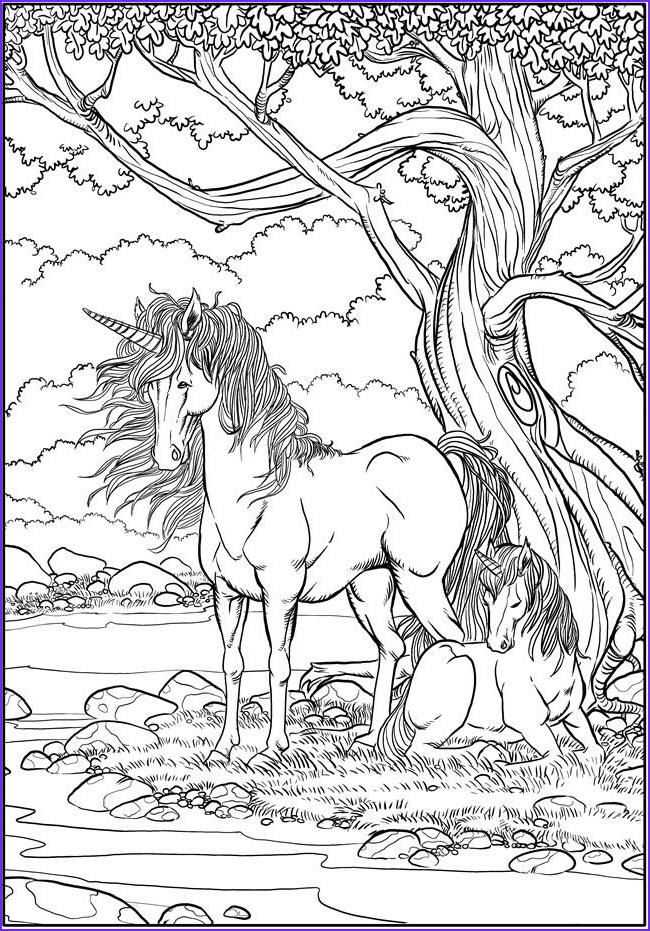 Fantasy Coloring Page for Adults Unique Gallery Fantasy Unicorn Adult Art Coloring Page