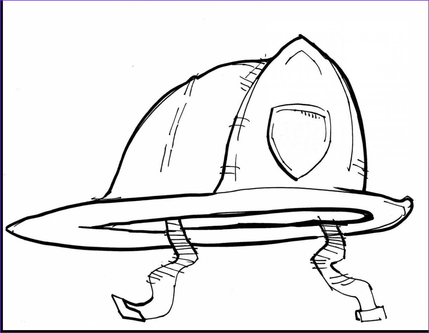 firefighter hat templates