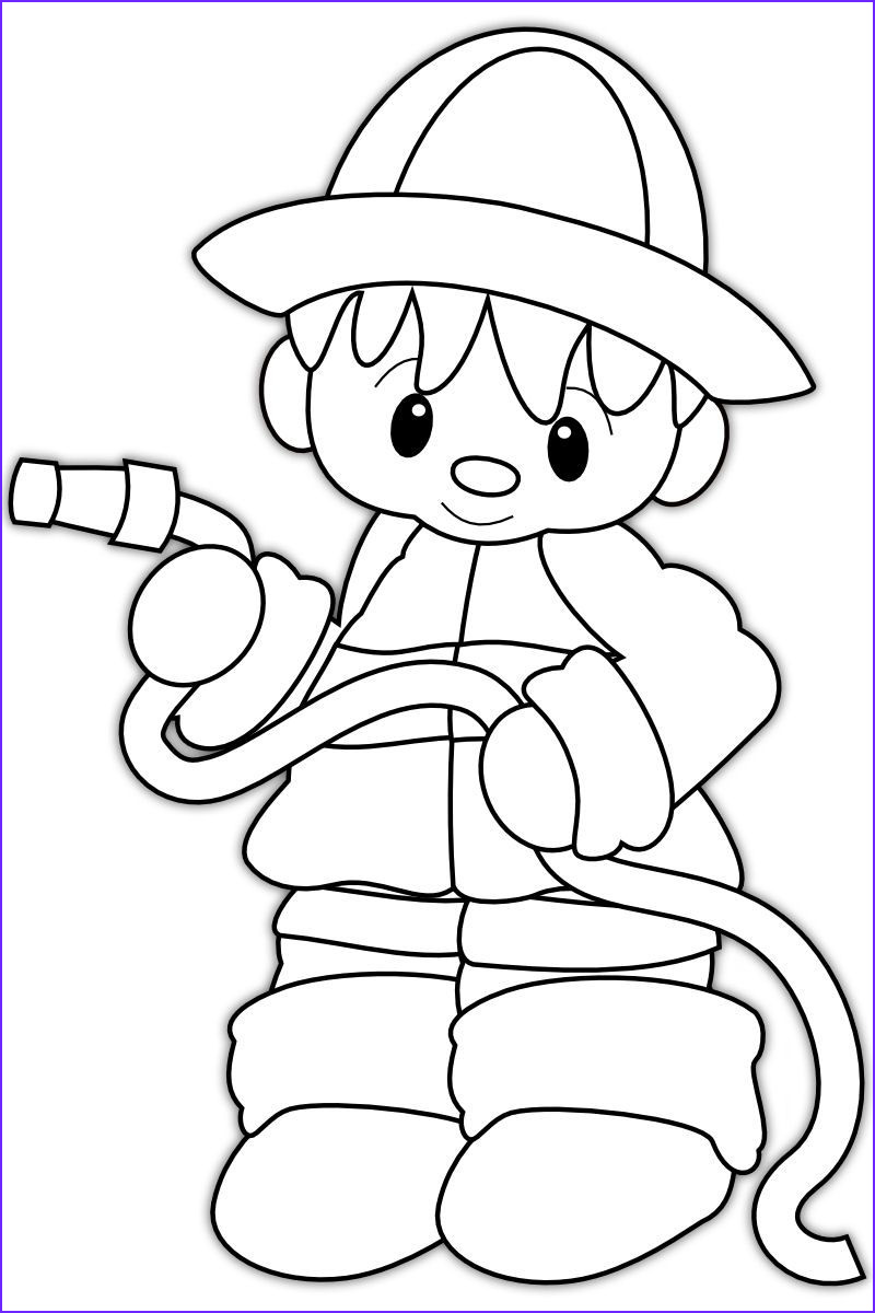 firefighter hat coloring page