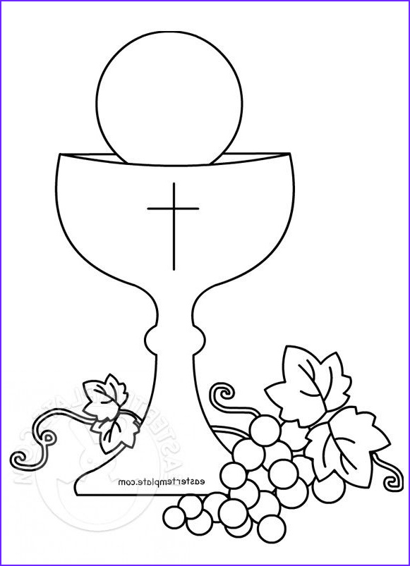 First Communion Coloring Page Cool Stock Easter Template