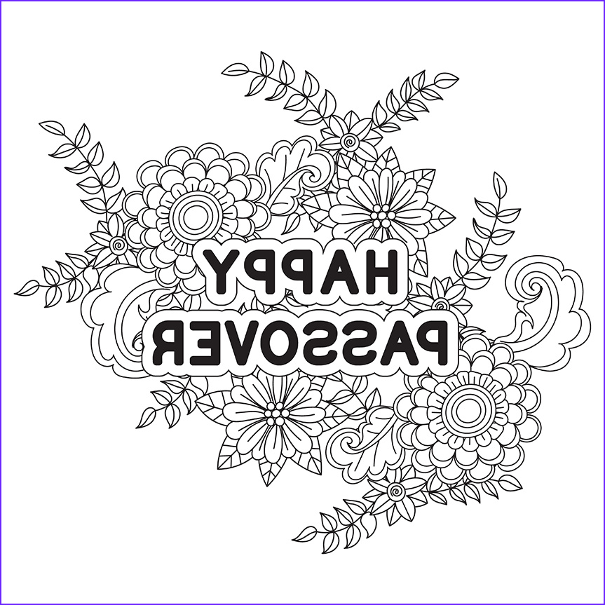 passover coloring pages free