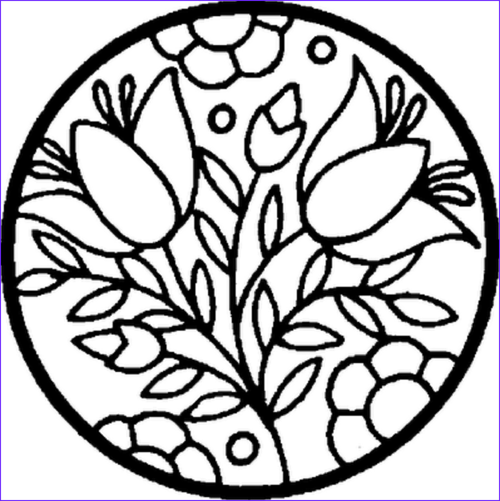 Flower Coloring Book Page Best Of Collection Flowers In A Circle Coloring Pages Sheets