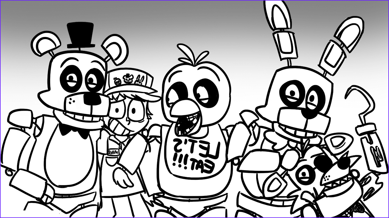 Fnaf Coloring Page Printable Awesome Photos Fnaf World Free Colouring Pages