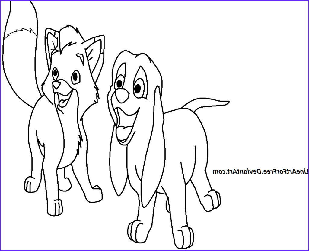 fox and the hound coloring pages to print