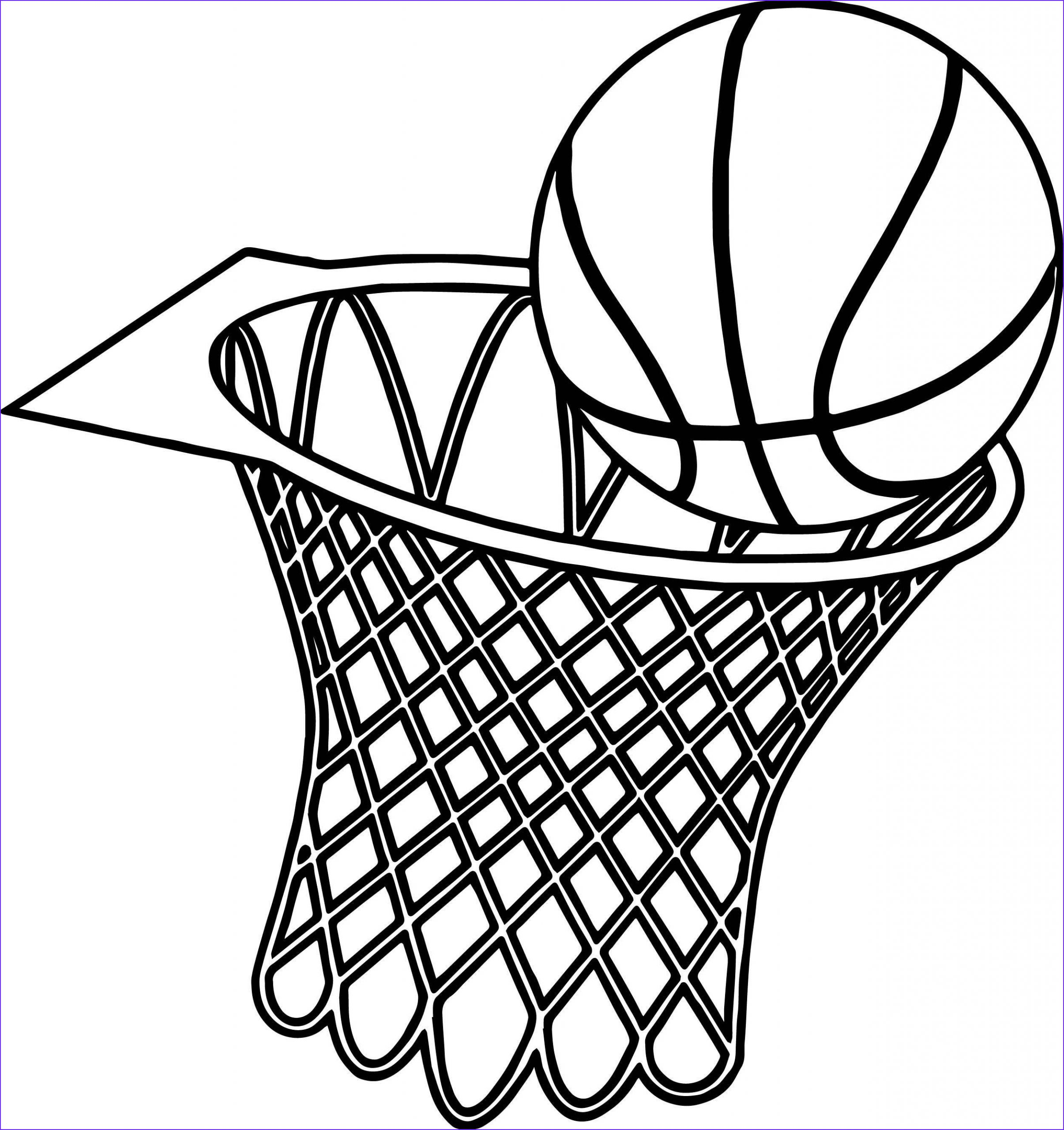 basketball goal coloring pages