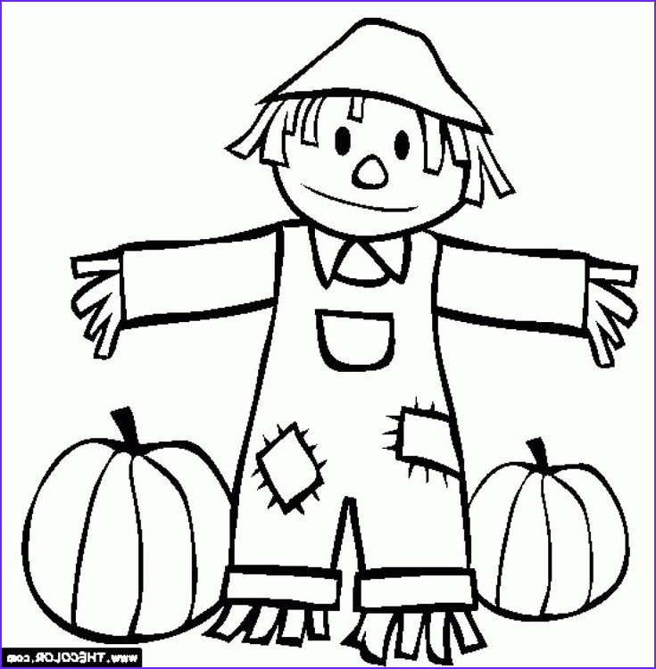 Free Fall Coloring Page Luxury Stock 22 Beautiful Image Of Scarecrow Coloring Page
