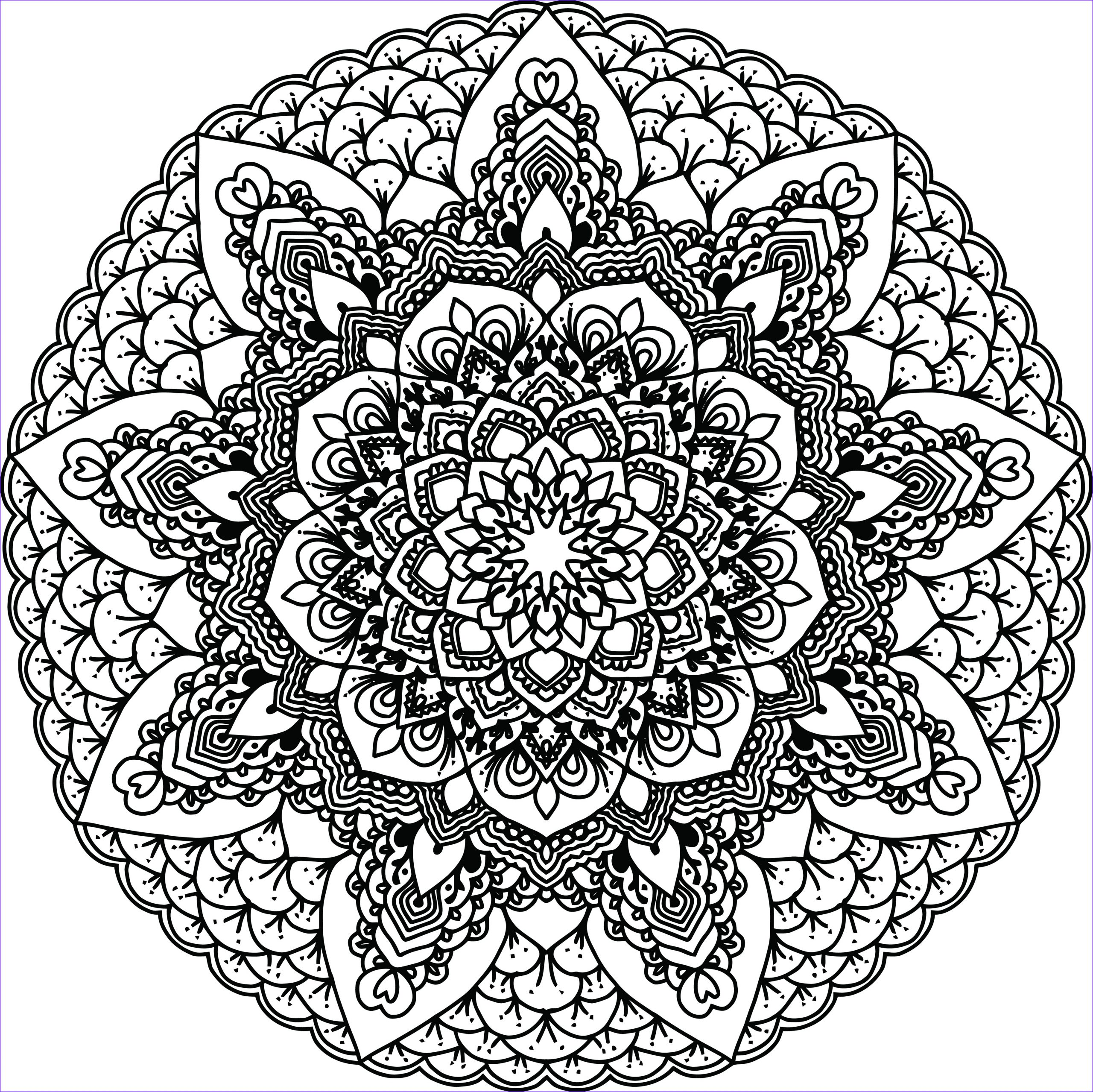 Free Mandala Coloring Book Cool Stock Free Clipart A Black and White Adult Coloring Page