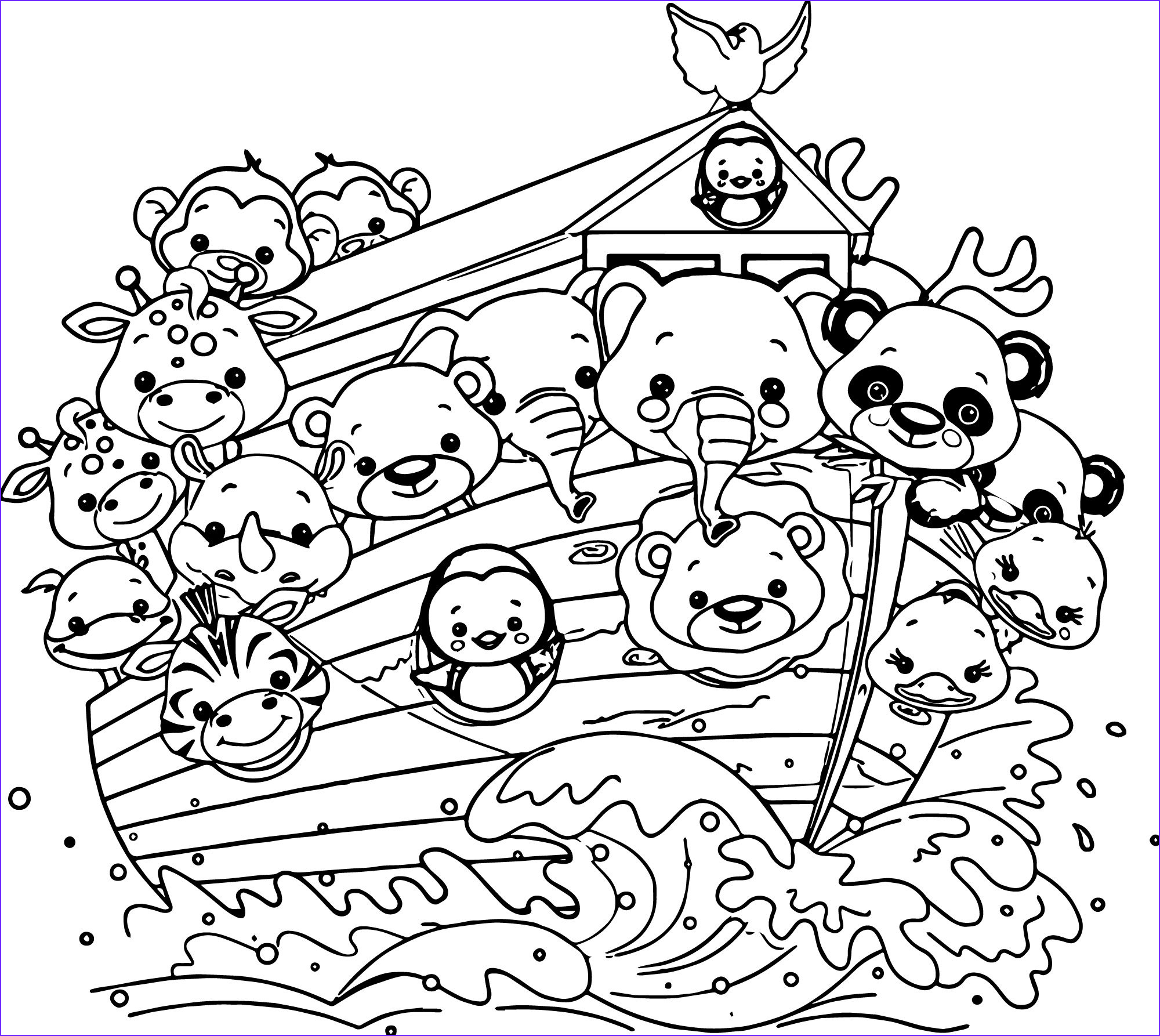 Free Printable Noah's Ark Coloring Page Cool Images Noah S Ark Cartoon Coloring Pages Coloring