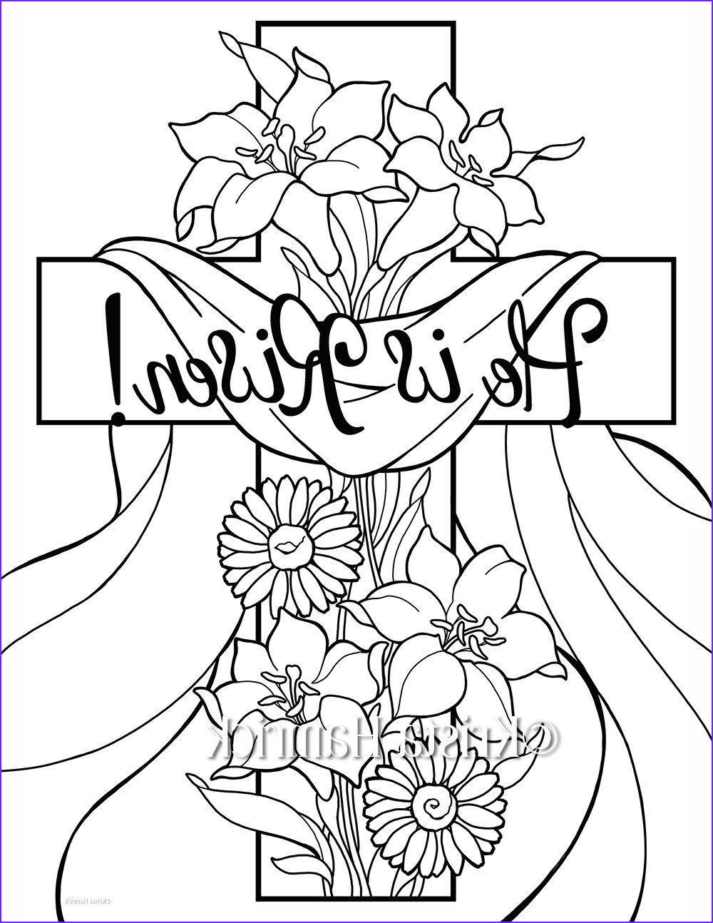 Free Religious Easter Coloring Page New Photos He Is Risen 2 Easter Coloring Pages For Children