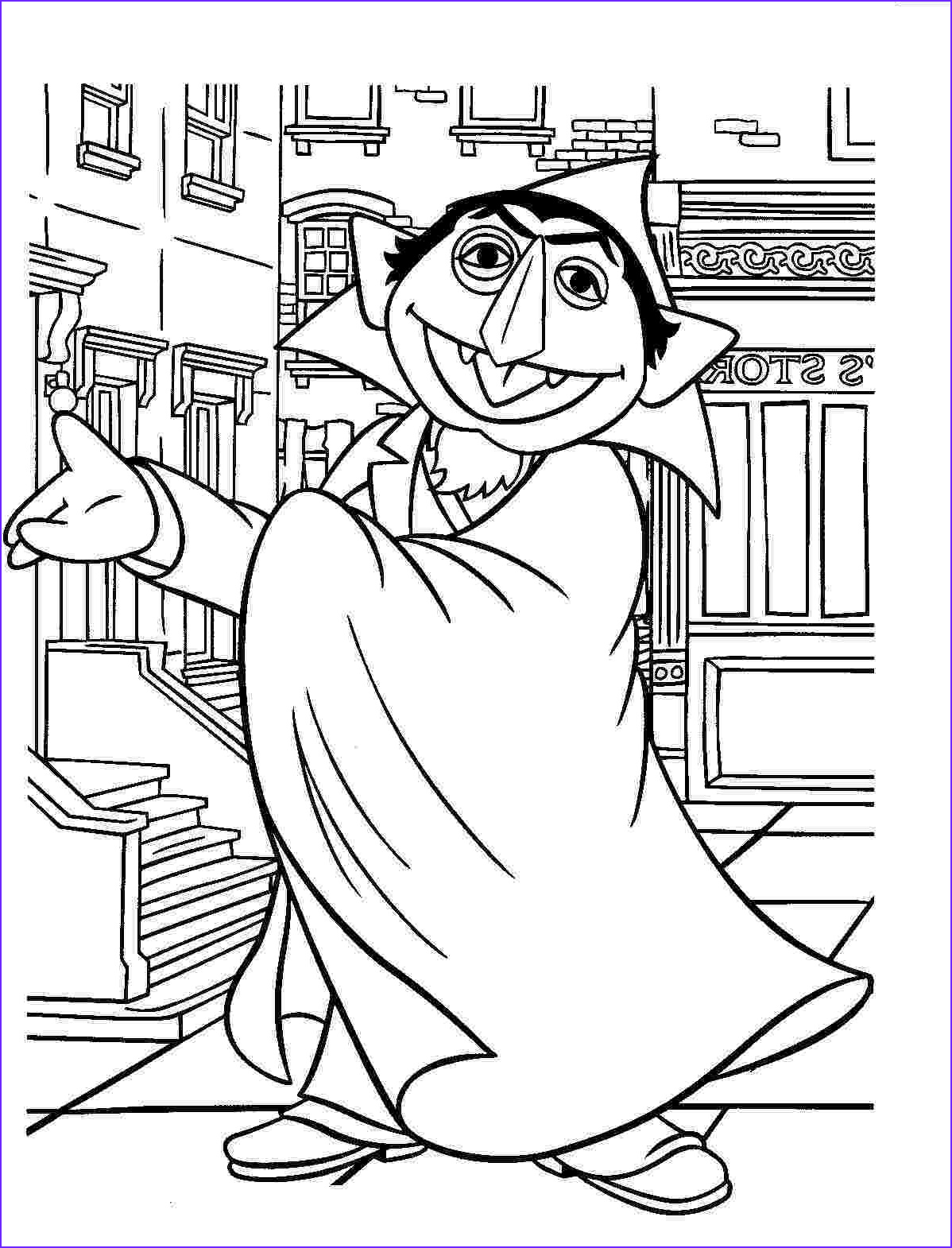 sesame street coloring pages free printable activities for kids christmas holiday 17