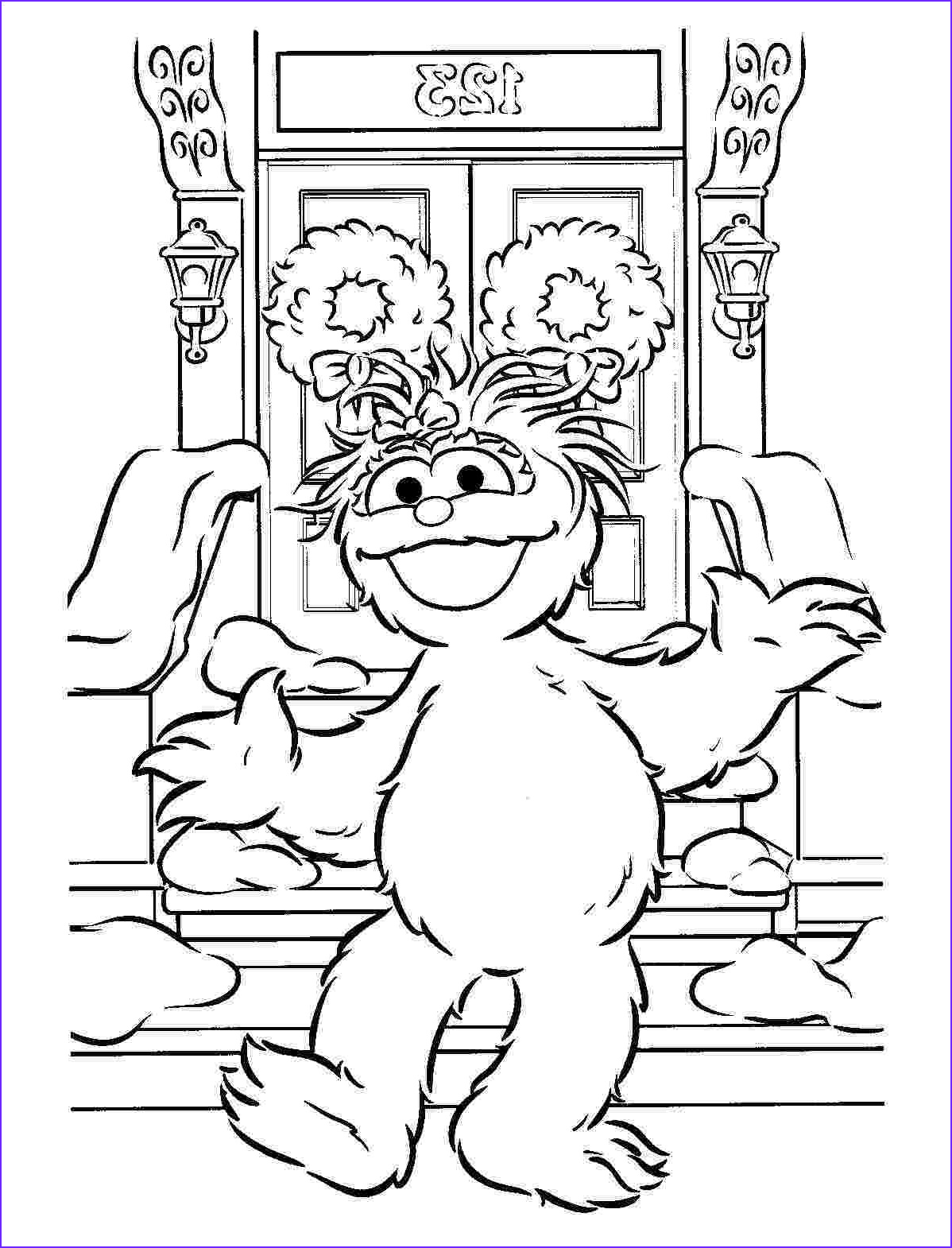 sesame street coloring pages free printable activities for kids christmas holiday 35