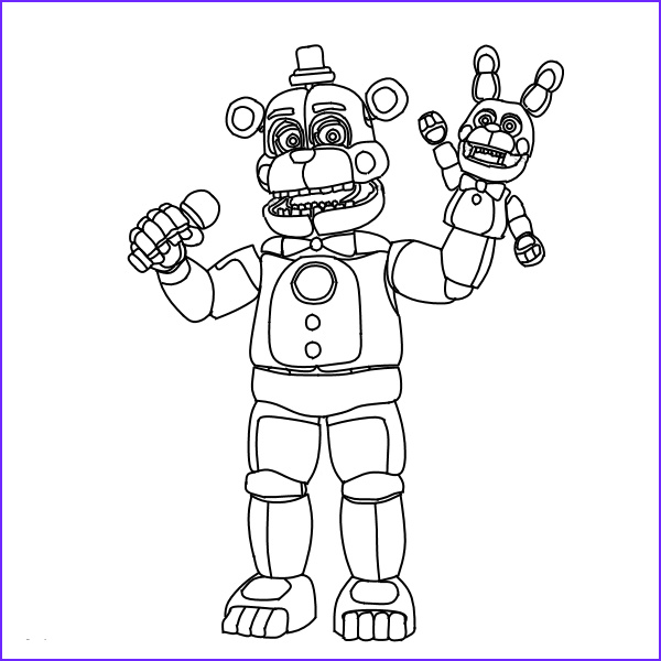 Funtime Freddy Coloring Page Cool Photos 36 Fnaf Coloring Pages Free Printable Coloring Sheets