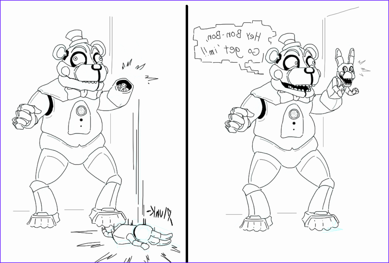 32 funtime freddy coloring page