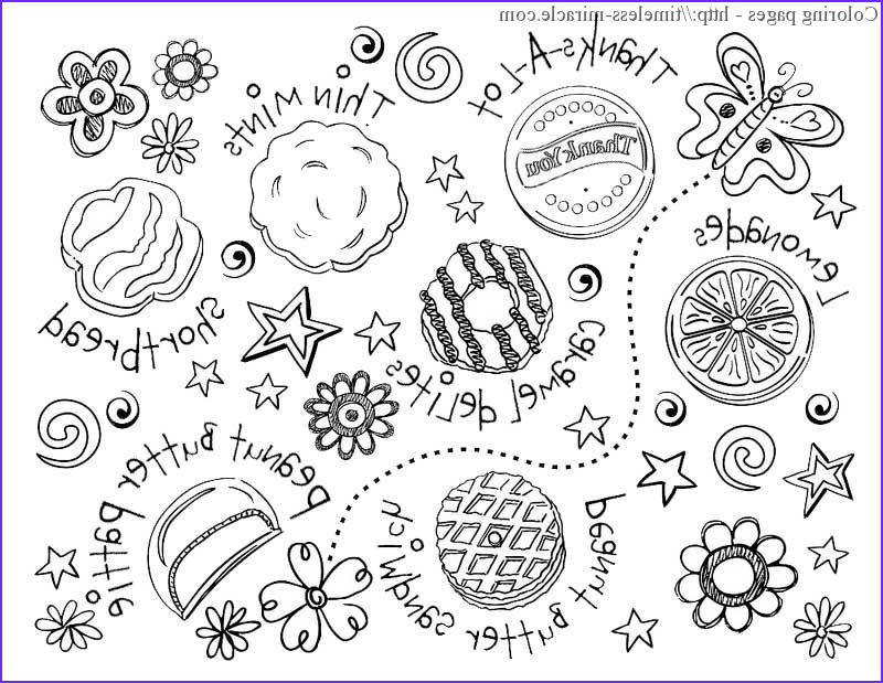 Girl Scout Cookie Coloring Page Beautiful Gallery Girl Scout Cookie Coloring Sheets Timeless Miracle