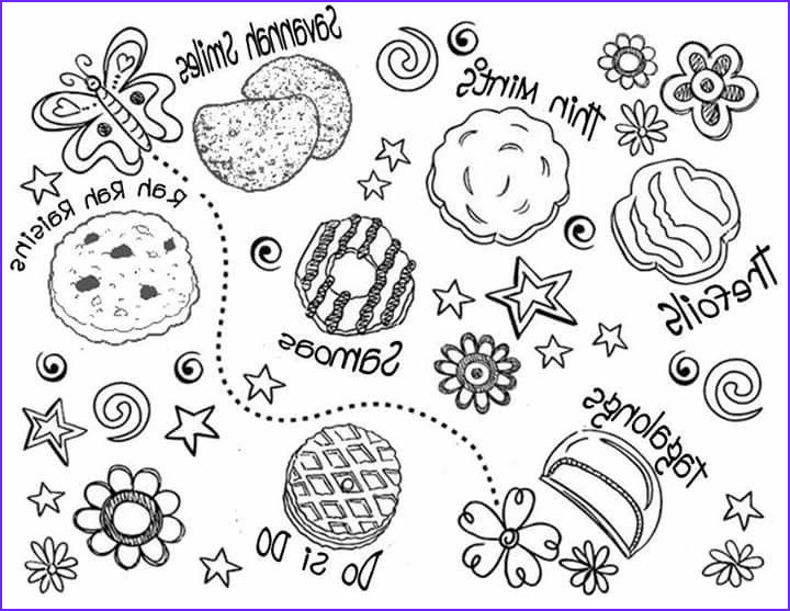 Girl Scout Cookie Coloring Page Beautiful Image Gs Cookie Coloring Sheet