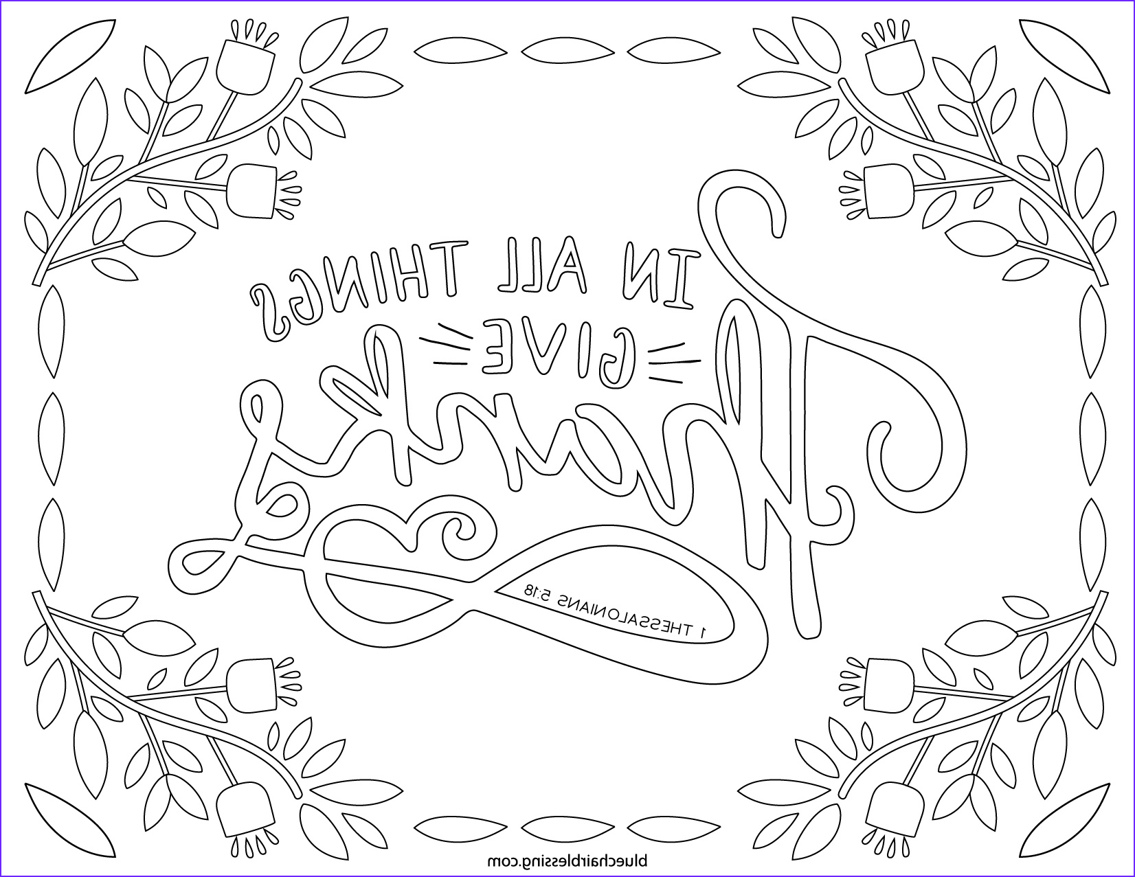 Gratitude Coloring Page Beautiful Photos Give Thanks to the Lord Free Colouring Pages