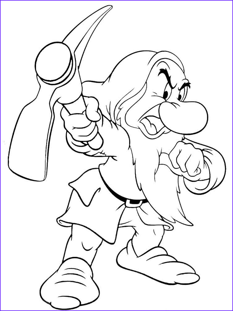 Grumpy Coloring Page Inspirational Photos Grumpy the Dwarf Coloring Pages Free Printable Grumpy the