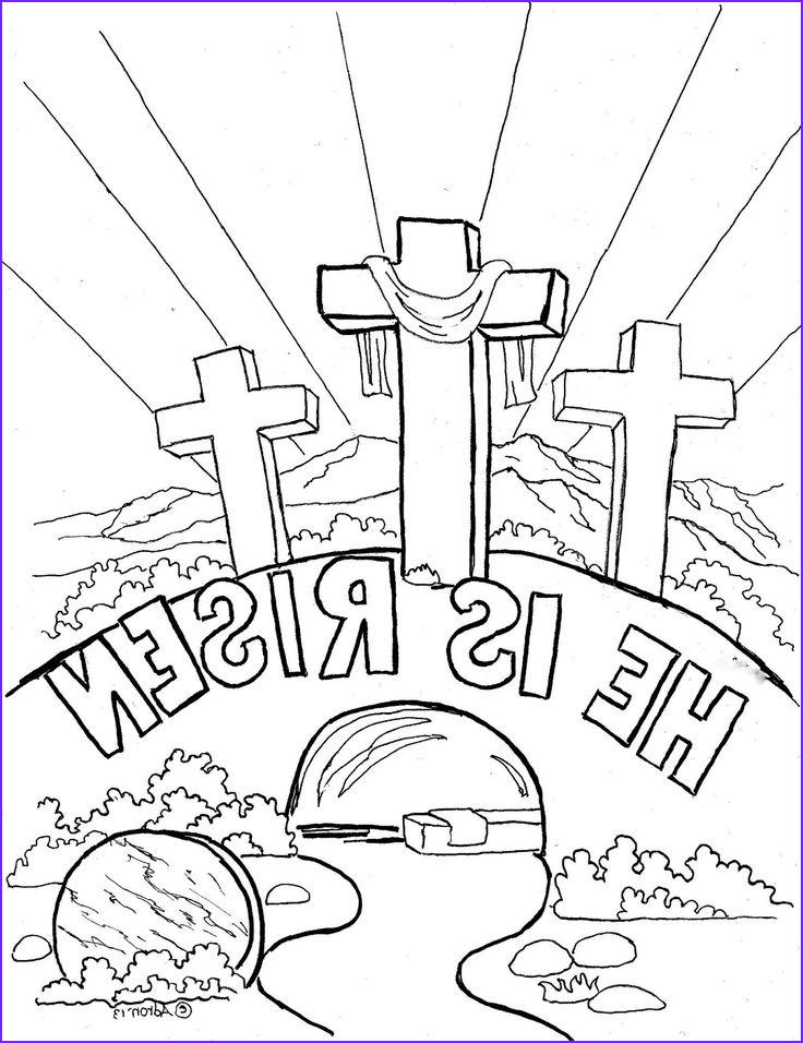 """He is Risen Coloring Page Cool Photos Easter Coloring Page for Kids """"he is Risen"""" the Blog Has"""