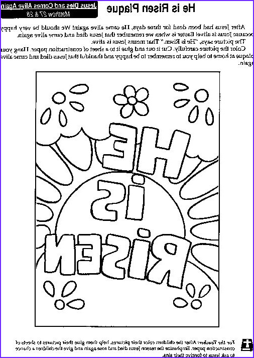 """He is Risen Coloring Page Unique Image """"he is Risen"""" Coloring Page He is Risen"""
